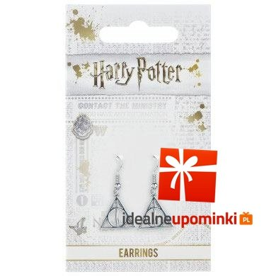Kolczyki Insygnia Śmierci - Harry Potter (posrebrzane)