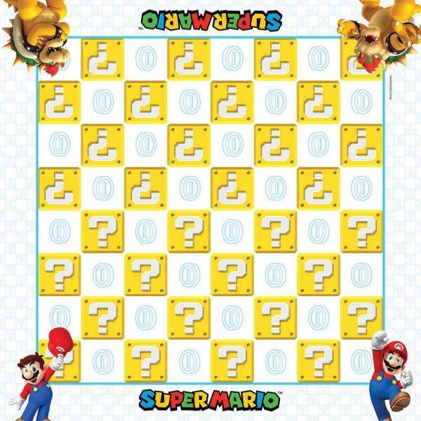 Super Mario - Gra planszowa Warcaby oraz kółko i krzyżyk