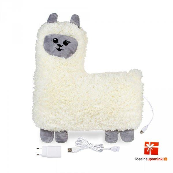 PrzytuLamka - grzejąca lama maskotka