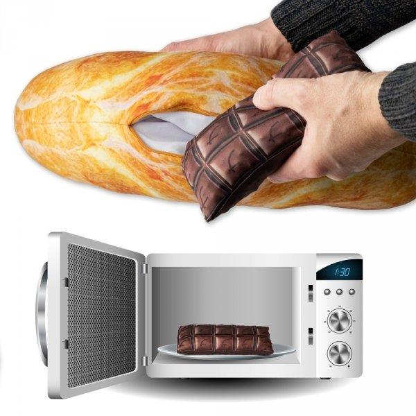 Termofor - Grzejący croissant - Poduszka rogal z czekoladą