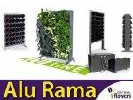 Alu Rama Stojąca Jednostronna PG14 Zielona ściana