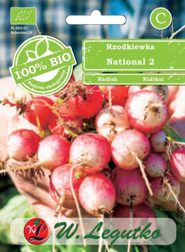 ekologiczne nasiona rzodkiewka national