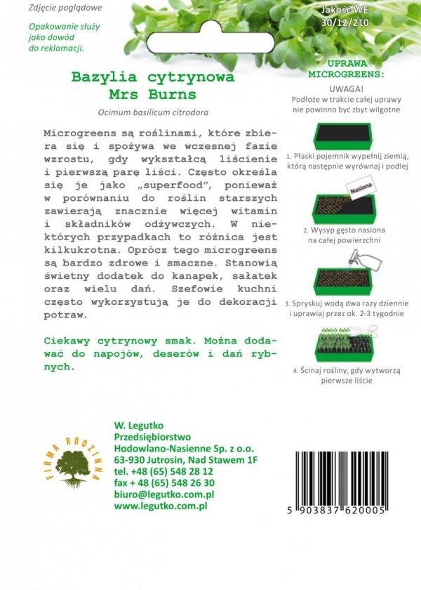 Microgreens Bazylia cytrynowa uprawa