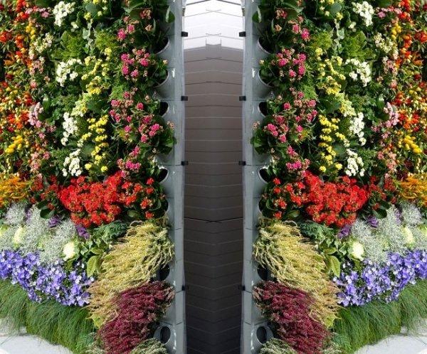 System ogrodów wertykalnych Pixel Garden moduł PG09 Komplet 10szt. szary
