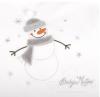 Pościel niemowlęca welurowa SNOWMAN komplet 3-częściowy SZARY  BabyMatex