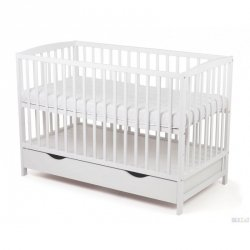 łóżeczko kolor bialy  ARCO  120-60 cm - opcja :  szuflada