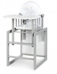krzesełko do karmienia Krzesełko AGA III szary  KLUPŚ