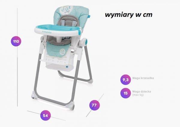 krzesełko do karmienia LOLLY NEW z wkładką 2018 bebydesign