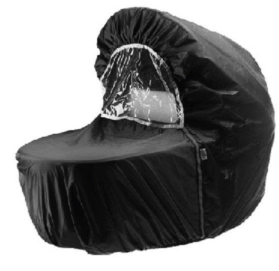 Okrycie przeciwdeszczowe do wózków Jedo - Nylonowe czarne.
