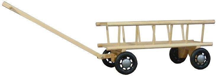 wózek drabiniasty , drewniany olchowy  eco , skrętny duży z rączką