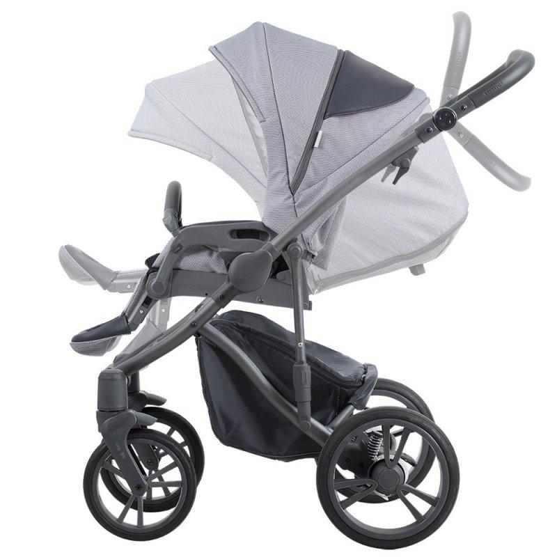 wózek BRESSO GREY  2020 (gondola+spacerówka ) + parasolka BEBETTO