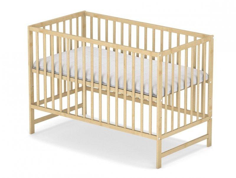 łóżeczko KLASYCZNE kolor sosna 120/60 cm