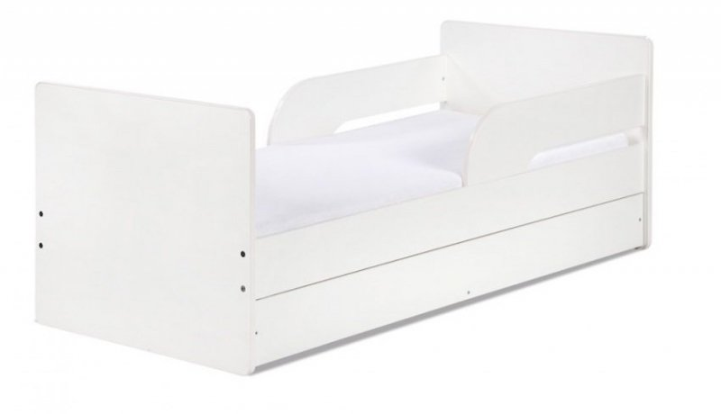 Łóżko 160×70 TIMO Białe z szufladą KLUPŚ
