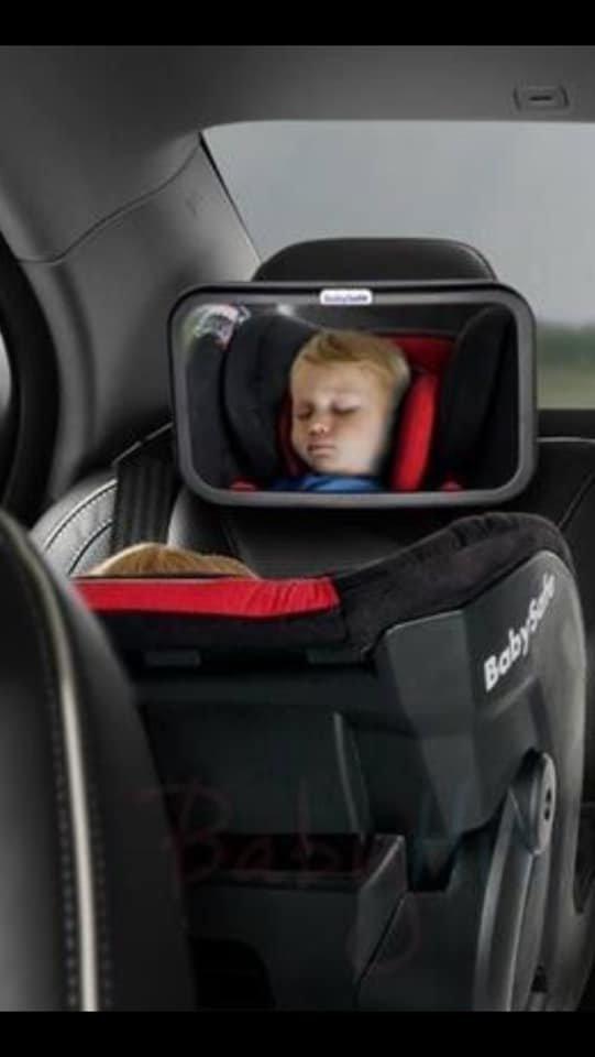 LUSTERKO Umożliwia obserwację dzieci jadących w foteliku zamontowanym tyłem do kierunku jazdy BABYSAFE