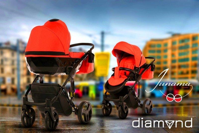 wózek  3w1 DIAMOND  (gondola+spacerówka + fotelik) JUNAMA TAKO (opcja 4w1 z bazą isofix)