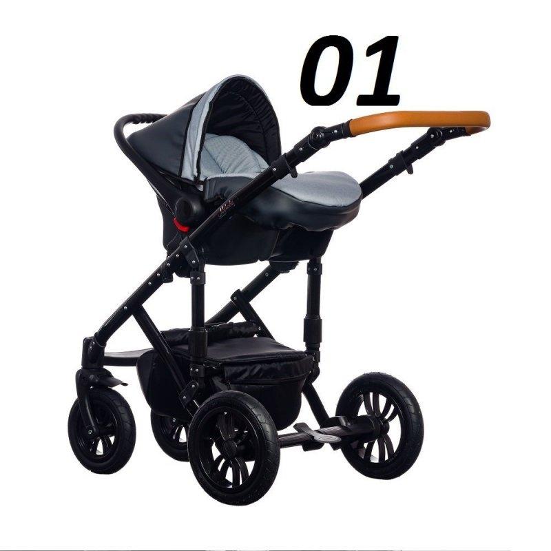 wózek Melody NEW 3w1 ( gondola + spacerówka + fotelik) PARADISE BABY