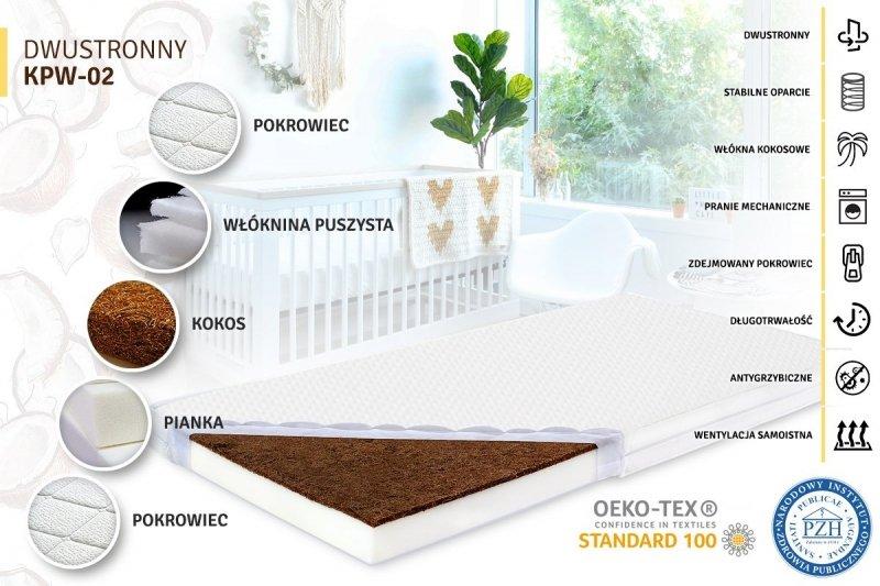 materac piankowo-kokosowy LUX  120/60  TAPI