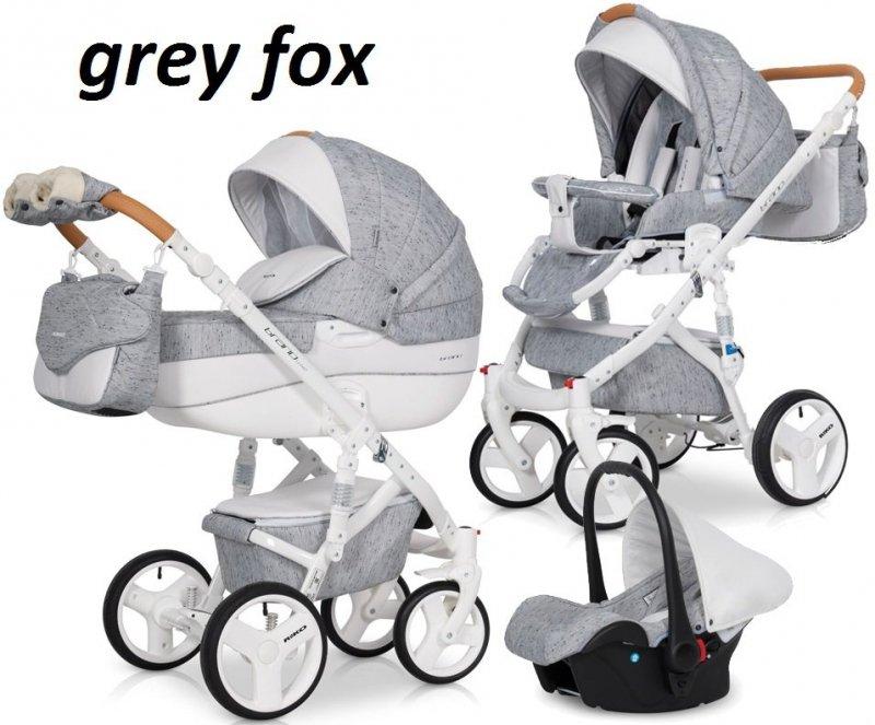 wózek wielofunkcyjny BRANO LUXE ( gondola+ spacerówka+ fotelik) RIKO