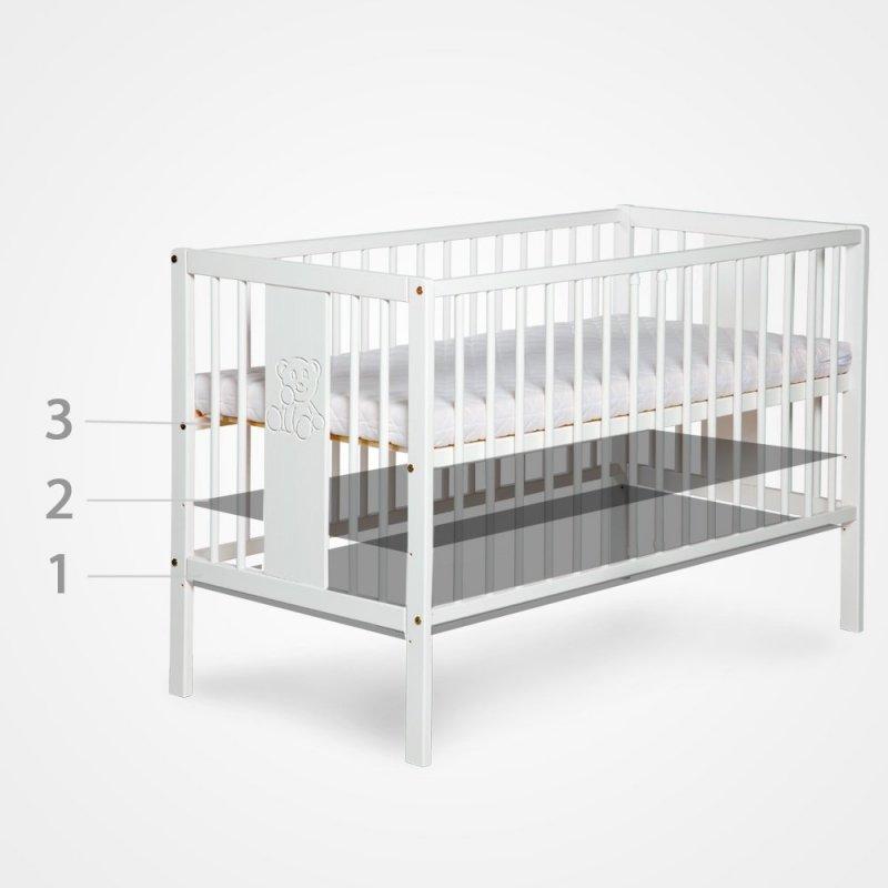 łóżeczko SAFARI KLUPŚ  Zyrafka biała 120/60
