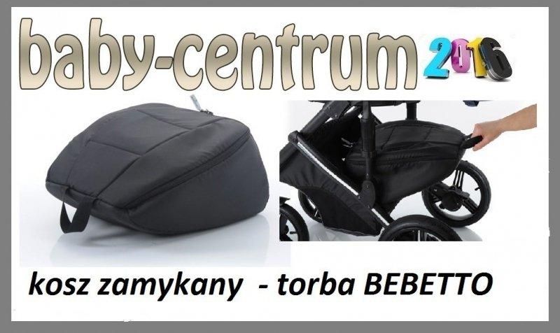 ZAMYKANA TORBA DO KOSZA do wózków bebetto - torba czarna