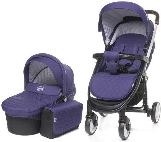 wózek WIELOFUNKCYJNY ATOMIC 2W1 (gondola+ spacerówka) + dodatki 4 BABY