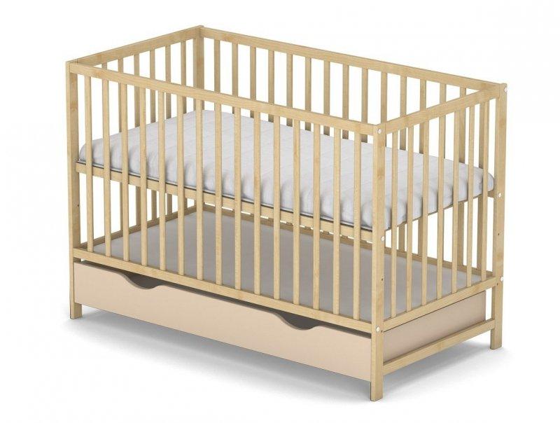 łóżeczko KLASYCZNE kolor sosna  120/60 cm + szuflada