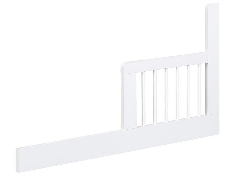 Łóżeczko Nel Serce biały-popiel 120x60 firmy klupś ( opcja szuflada oraz barierka boczna )