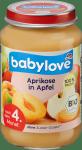 Babylove BIO Przecier Owocowy Jabłko Morela 4m 190g