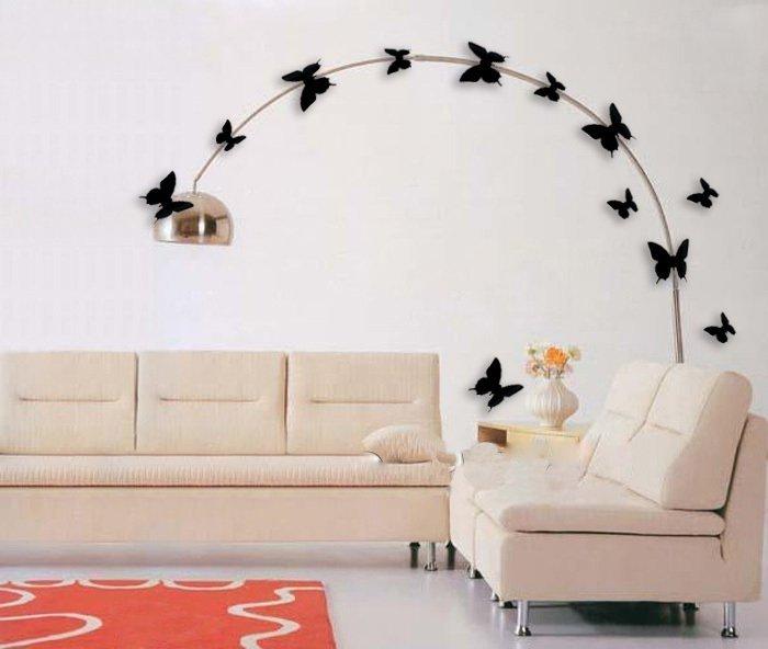 Motylki Motyle 3d ścianę 12 Magnes Zielone