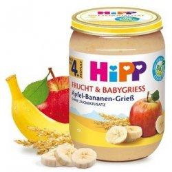 Hipp Bio Kaszka Manna Banan Jabłko 4m 190g