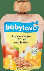 Babylove BIO Jabłko Mango Brzoskwinia Owies 1r 90g