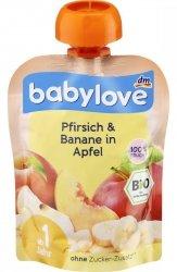 Babylove BIO Jabłko Brzoskwinia Banan 1r 90g