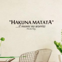 m-din Naklejki Na Ścianę Ścienne Hakuna Matata