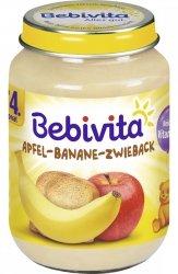 Bebivita Deserek Jabłko Banan Suchar 190g 4m
