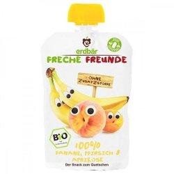 Erdbar Bio Banan Brzoskwinia Morele Deserek 100g