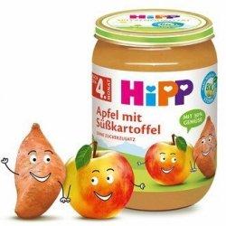 HIPP BIO Deserek Bataty Słodkie Ziemniaczki z Jabłkami  190g 4m