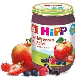 HIPP BIO Owoce Leśne z Jabłkiem Witaminy 190g 6m