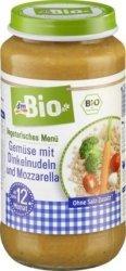 Bio Warzywa makaron Orkiszowy Mozzarella 12m 250g