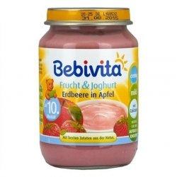Bebivita Jogurt Truskawka Jabłko Wapń 190g 10m