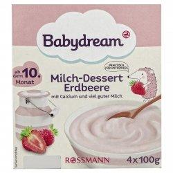 BabyDream Deser mleczny Jogurt z Truskawką 10m 4x100g