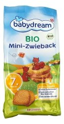BabyDream Bio Mini Sucharki Pszenne 7m 100g