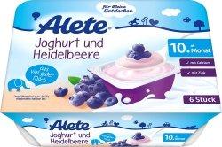 Alete Mleczny Deser Jogurt z Jagodami 6x60g 10m