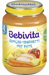 Bebivita Spagethi Indyk Pomidory Marchew 4m 190g