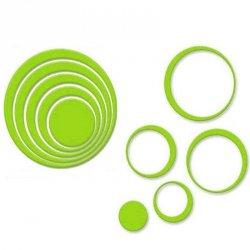 Naklejki Na Ścianę Ścienne Koła 3D 5 sztuk Zielone