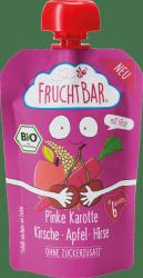 FruchtBar Bio Różowa Marchew Czereśnia Jabłka Proso