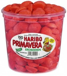 Haribo Primavera Truskawki W Cukrowej Posypce 150szt 1050g