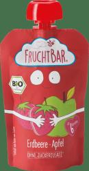 FruchtBar Bio Wegański mus w tubce Truskawki Jabłko