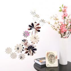 Kwiaty KWIATKI 3D ŚCIANĘ PVC DUŻE 12 MONTAŻ LUSTRZANE