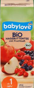 Babylove Bio Herbatka z Sokiem Dzika Róża Czerwone Owoce 1r 200ml