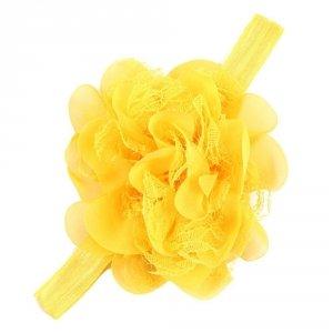 Opaska Opaski Kwiatek Duży Chrzest Żółta